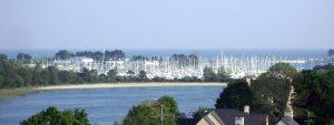 vue sur le port de la Forêt-Fouesnant